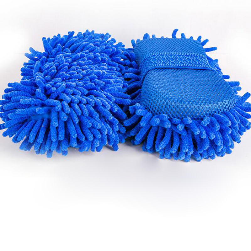 1PC Chenille Microfiber Coral Velvet Car Wash Sponge Block Car Glove Car Wash Tools Car Cleaning Supplies Cloth Towel Glove L26