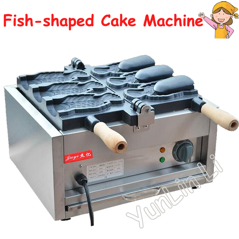 Ice Cream Taiyaki Maker Fish Shaped Cake Machine Electric Waffle Maker 220V Japanses Open Pouth Taiyaki Machine FY-1103B taiyaki maker with ice cream filling taiyaki machine for sale ice cream filling to fish shaped cake fish cake maker