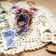 6.5cm 6pcs/set Anime Keychain Osomatsu san Matsuno Todomatsu Llavero Osomatsu Family Mumbers Keyrings Gift One Set Keyrings
