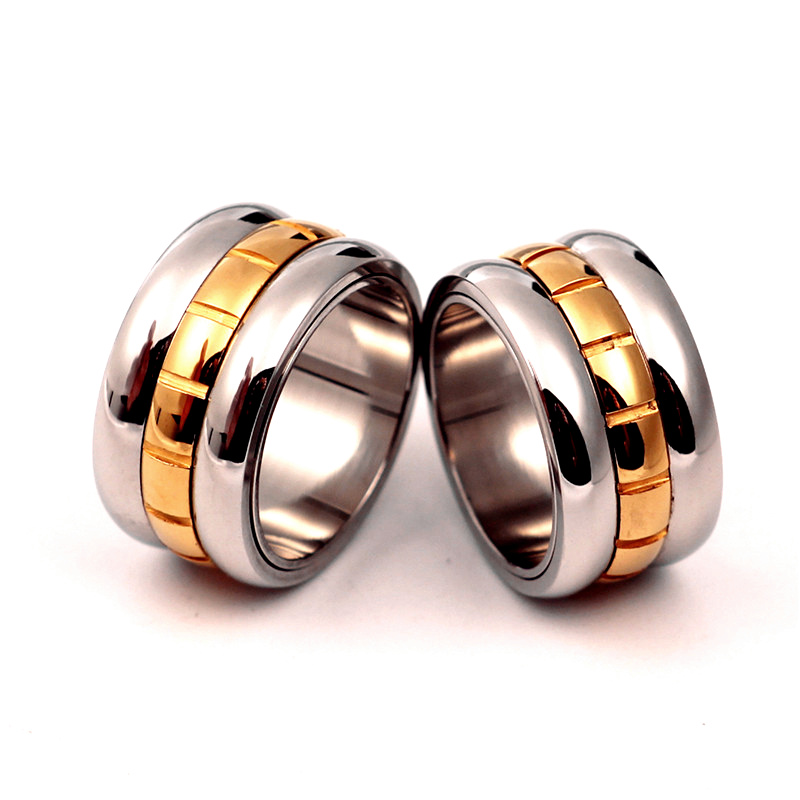 Top Quality Famous Brand New Rings For Men Women 14kgp 316l Stainless Steel Love 12mm Width Dropshipping In Wedding Bands From Jewelry Accessories
