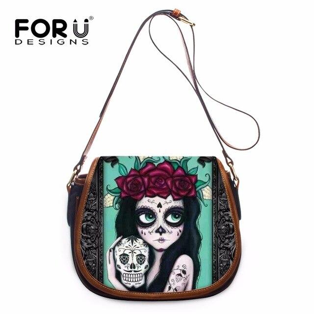 74e179060d FORUDESIGNS Cute Skull Women Messenger Bags Designer Cat Dog Crossbody  Shoulder Bags Woman