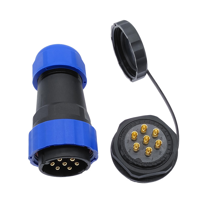 SP28 Straight  Waterproof Connector 2 Pin 3/4/5/6/7/9/10/12/14/16/19/22/24/26Pin IP68 Threaded Socket