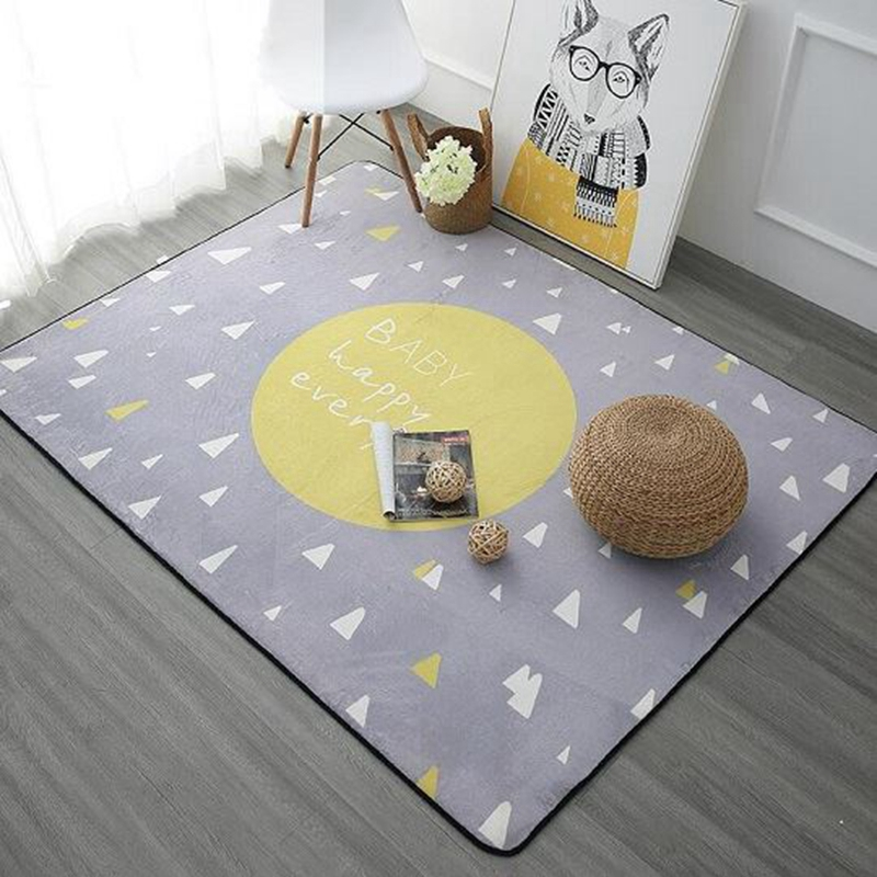 Nordic Pink Yellow Blue Printed Carpet Rugs Anti-Slip Floor Mat Soft Baby Playing Carpets For Living Room Indoor Bedroom RugNordic Pink Yellow Blue Printed Carpet Rugs Anti-Slip Floor Mat Soft Baby Playing Carpets For Living Room Indoor Bedroom Rug