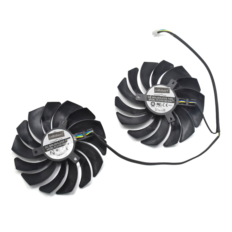 RX570 RX470 inRobert 95mm Video Card Cooling Fan Replacement for Sapphire Nitro RX580 RX480 CF1015H12D