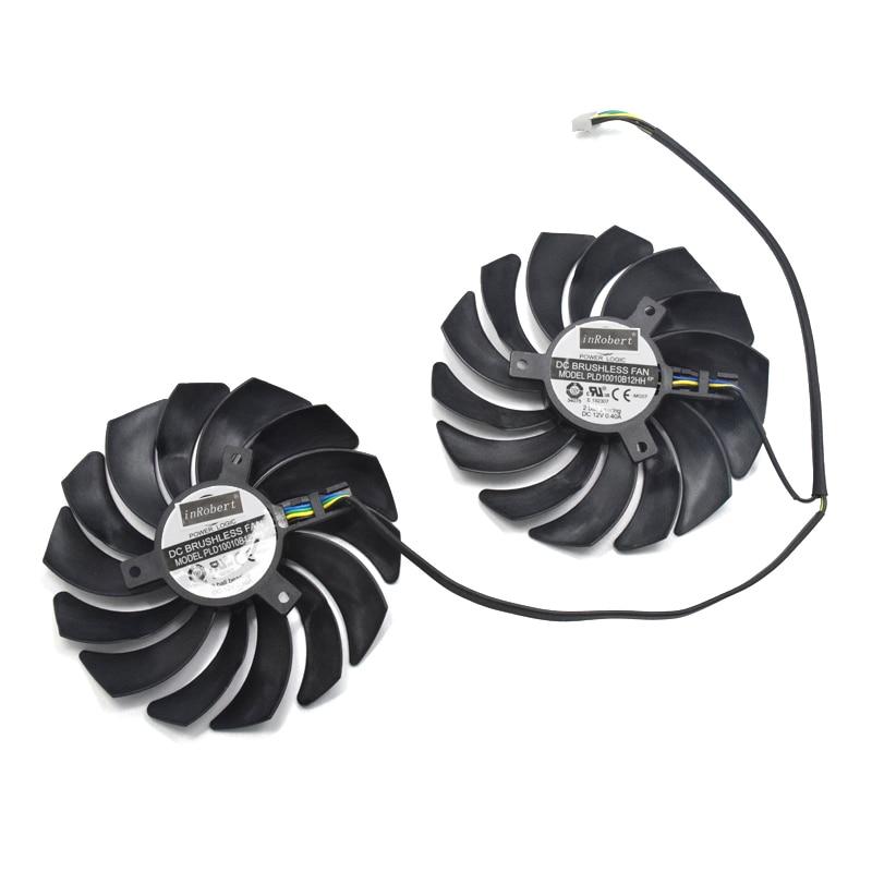Nova 95 MILÍMETROS Ball Bearing Fan Cooler Substituição Para MSI RX 580 570 480 470 Jogos X 8G RX580 RX570 RX480 RX470 Cartão de Fãs Gráficos
