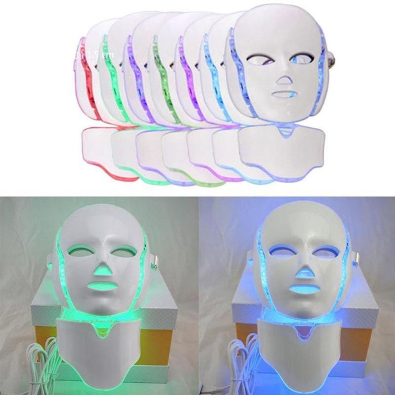 7 Color Photon Mask instrument Face Neck Whitening Microcurrent Beauty Instrument Beauty Salon Professional Facial Skin Care L3 1 set professional face care diy homemade fruit vegetable crystal collagen powder facial mask maker machine skin whitening