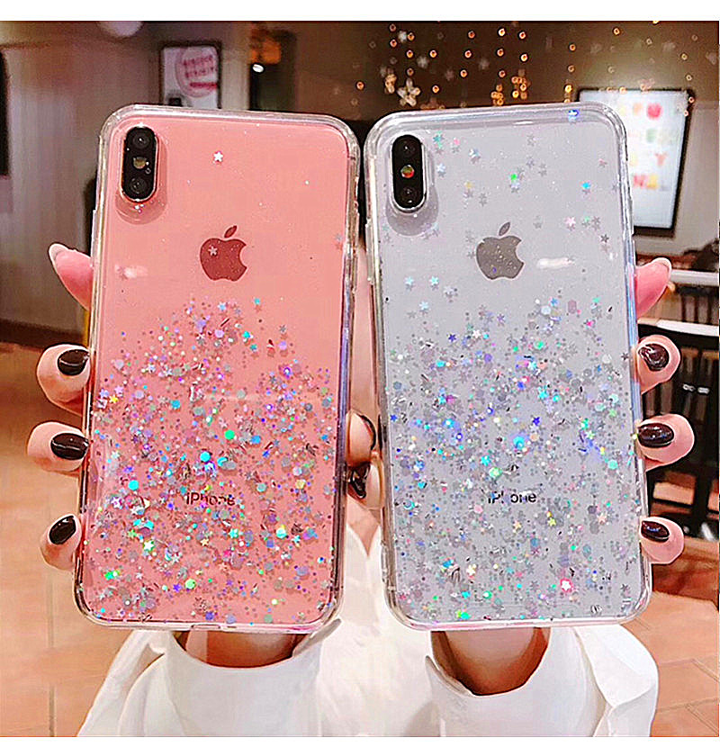 HTB1KNgzav1H3KVjSZFHq6zKppXav - Luxury Bling Glitter Stars Sequins Case For iPhone 11 Pro XS MAX XR X Transparent Silicone Case For iphone 8 7 6 6S Plus Cover