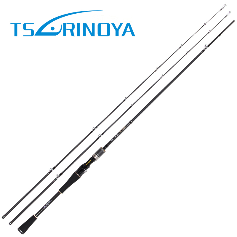 цена на TSURINOYA Spinning Casting Fishing Rod 2.1m 2 Tips 98% Carbon Fiber Fishing Lure Rod M/MH Power 2 Sections Vara De Pesca Olta