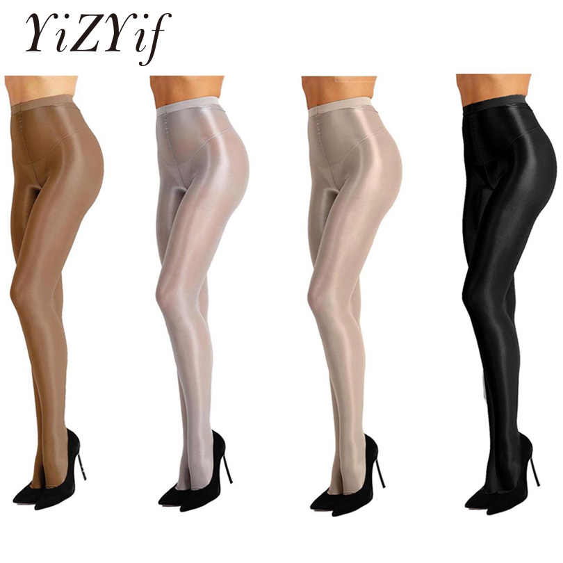 d34a3d93dfc YiZYiF Women Control Top Thickness 70D Brushed Stockings Pantyhose Silk  Shiny Ultra Shimmery Stretch Plus Footed