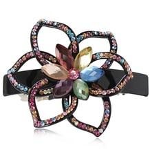 Luxury Handmade Rhinestone Hairpin Clip Ponytail Rhinestone Hair Accessory Crystal Hairpins