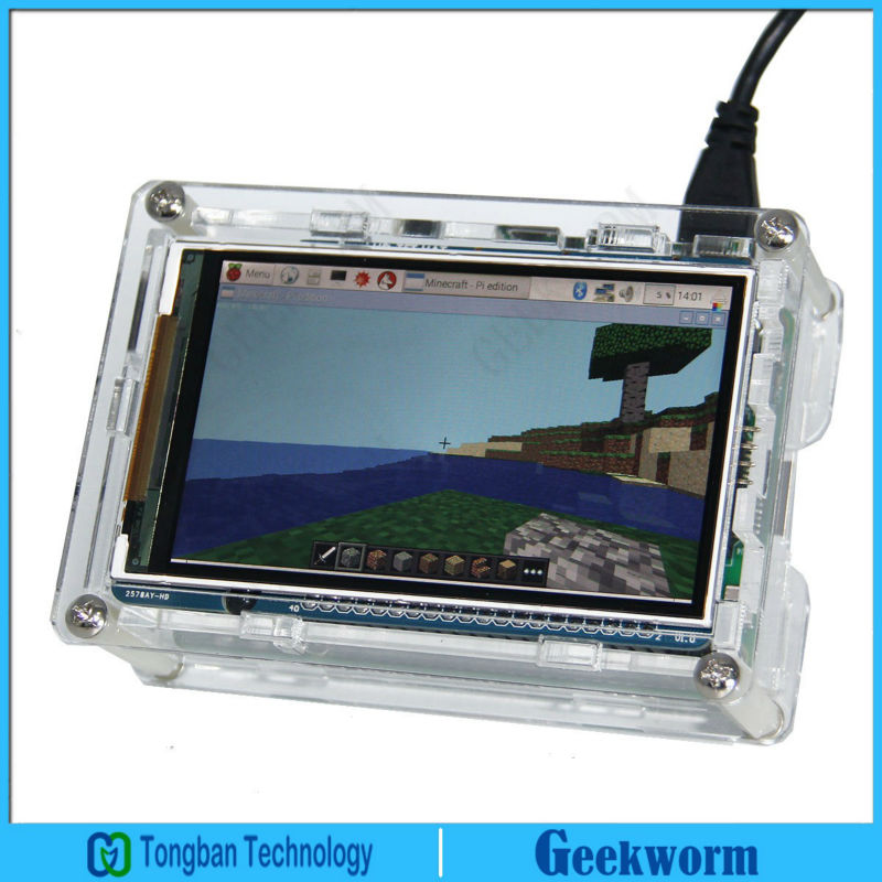 RPI 3 5 inch High Speed Display Screen TFT LCD 800 480 Acrylic Case for Raspberry