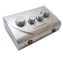 Mélangeur Karaoké Echo Mixer Du Son Musical Echo Alimenté Audio Mixer Console PC TV microphone Amplificateur système numérique mixer du son