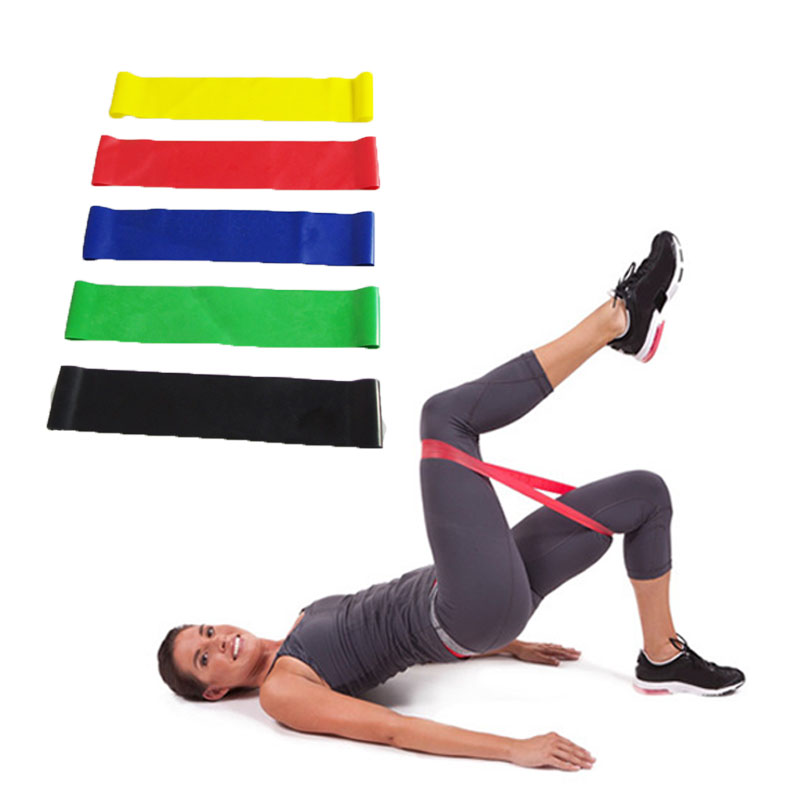 5pcs/set Resistance Bands Set Yoga Pilates Home Gym