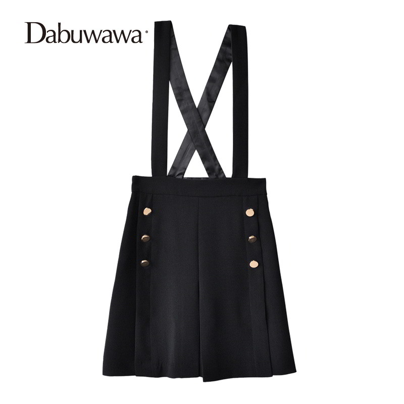 Dabuwawa Women Spring Autumn Mini A-Line Skirt Fashion Elegant Suspender High Waist Skirt Sexy Office Skirts #D17ARS009 dabuwawa autumn women fashion sexy plaid skirt elegant mini pleated skirt short streetwear asymmetrical skirt d17csk031 page 5
