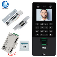 Facial Face RFID Door Access Control System Kit IP/TCP Biometric Fingerprint Attendance Machine USB Password Electric Locks