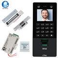 Gesichts Gesicht RFID Tür Access Control System Kit IP/TCP Biometrische Fingerprint Teilnahme Maschine USB Passwort Elektrische Schlösser