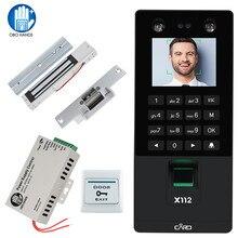 Mặt Mặt RFID Cửa Kiểm Soát Truy Cập Hệ Thống Kit IP/TCP Sinh Trắc Học Tham Vân Tay Máy USB Mật Khẩu Ổ Khóa Điện