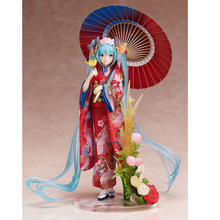 лучшая цена New Hot 23cm Stronger Vocaloid Hatsune Miku Kimono Yukata Action Figure Toys Doll Collection Christmas Gift