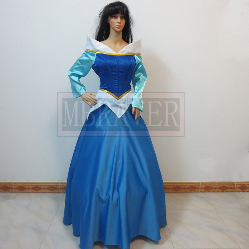 Custom-made Sleeping Beauty Aurora Princess Dress Cosplay Costume Any Size