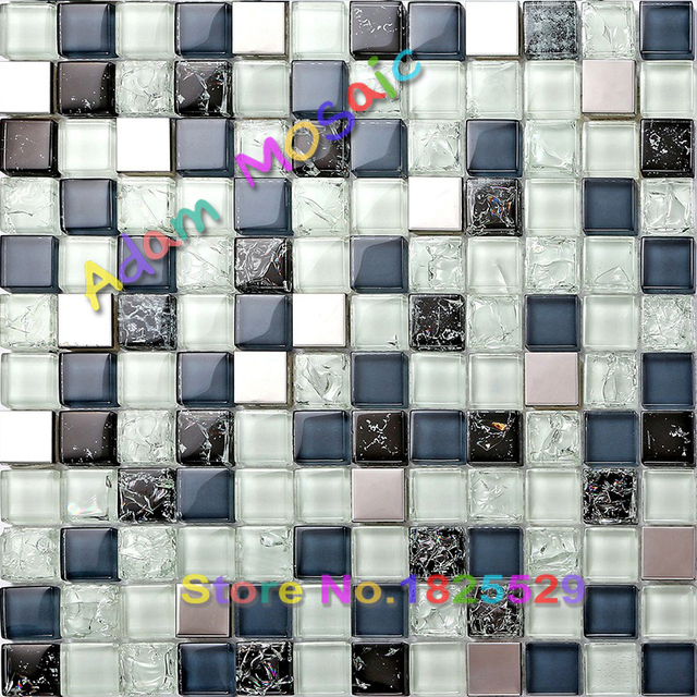 Goedkope mozaïek backsplash blauw glas tegels badkamer muur tegels ...