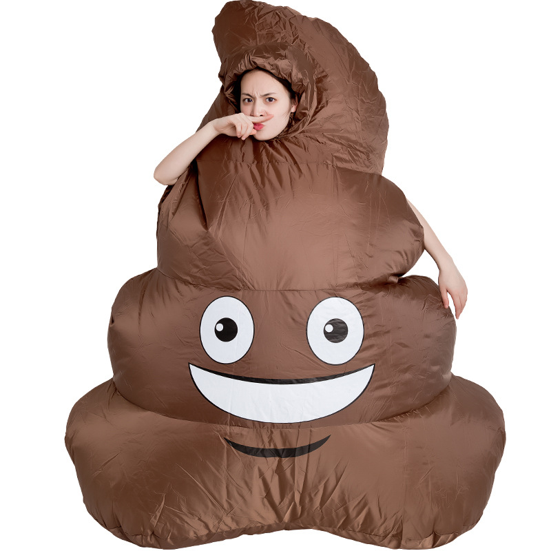 Adult Cosplay Inflatable Poop Costumes Funny Cute Stool Suit Prop Carnival Halloween Christmas Party Wrestler Costume Unisex