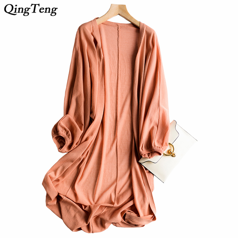 Summer Women Cardigan Casual Long Sleeve Knitted Cardigans Thin Knitted Ladies Sweaters  ...