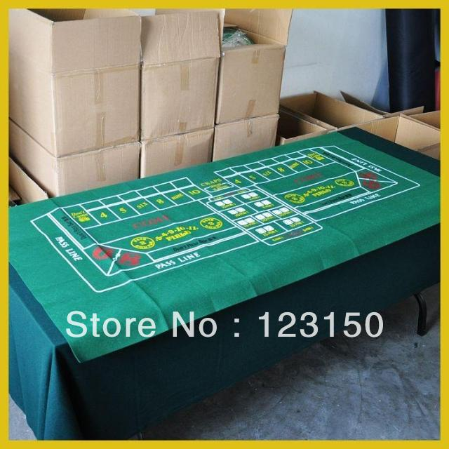 ZB-014  Non-woven Fabric,   Texas Holdem Table Cloth For Craps 90*180cm Green Felt