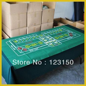 ZB-014  Non-woven fabric,   Texas Holdem Table Cloth for Craps 90*180cm green felt