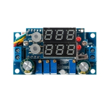 5A MPPT Solar Panel Controller DC-DC Step-down CC/CV Charging Module Display LED Solar Controllers ootdty led 5a adjustable power cc cv step down charge module driver ammeter voltmeter