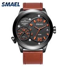 Mens Watches Top Brand Luxury Sport Men Quatz Watch Leather Bracelet Clock 1314 Waterproof Wristwatch Fashion