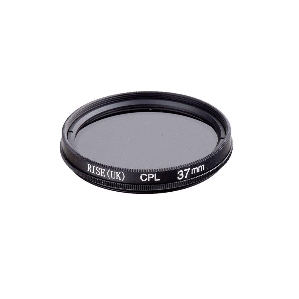 10 pcs RISE (royaume-uni) 37mm Polarisant Circulaire CPL C-PL Filtre Objectif 37 m Pour Canon NIKON Sony Olympus Caméra livraison gratuite