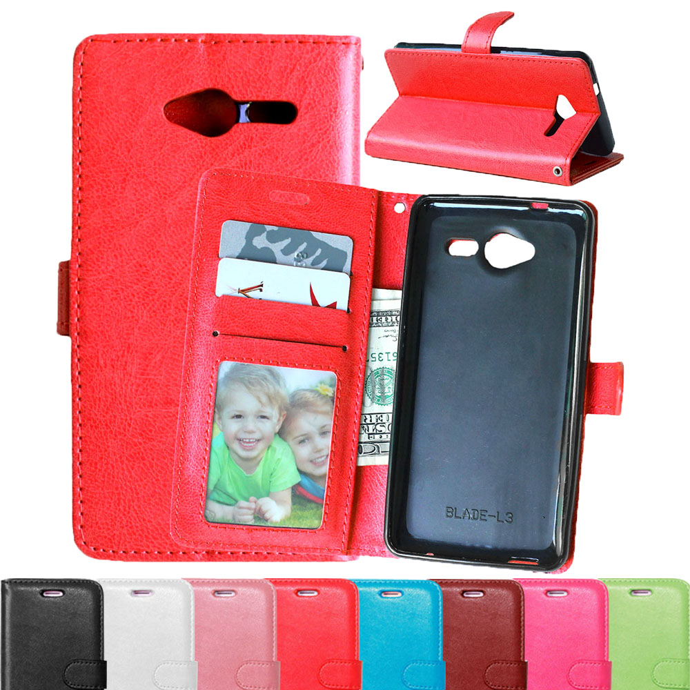 brand new 4010f 433b0 US $3.99 20% OFF Original Brand ZTE L3 Phone Case For ZTE Blade L3 Flip  Cover High Quality PU Leather Magnetic Phone Bag 8 Colors Free shipping-in  ...