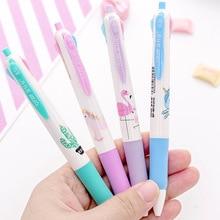 Bolígrafo multicolor de unicornio de dibujos animados, bolígrafo de 4 colores para escribir a mano, conjunto estacionario, bolígrafos de punto de bola escolares, venta al por mayor, 20 Uds.