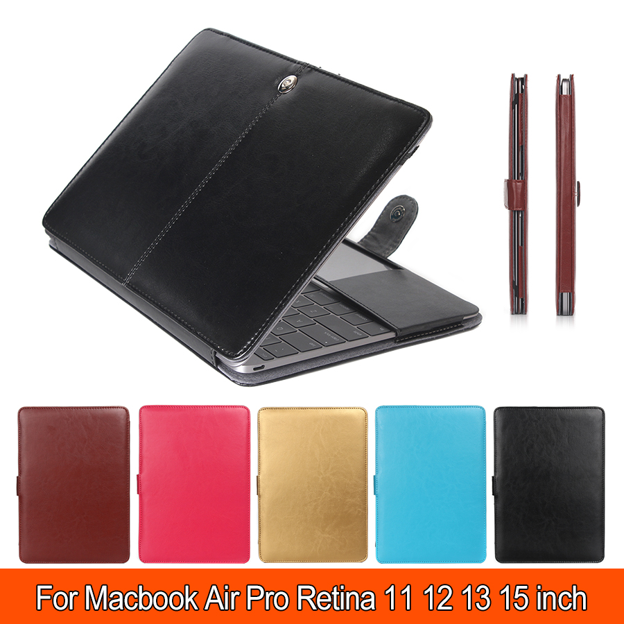 PU Leather Sleeve For Apple Macbook Air Pro Retina 11 12 13 15 Laptop Cases For Mac book 13.3 inch Business Cover Funda