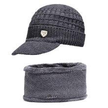 3974d75f8 Sombrero de invierno para hombres y mujeres de invierno, gorro de lana,  bufanda caliente