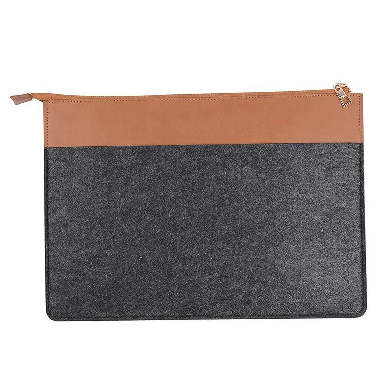 Hot Fashion Leather Folder Felt Document Organizer Folder Bag File Bags File Folder Office Supply Customized