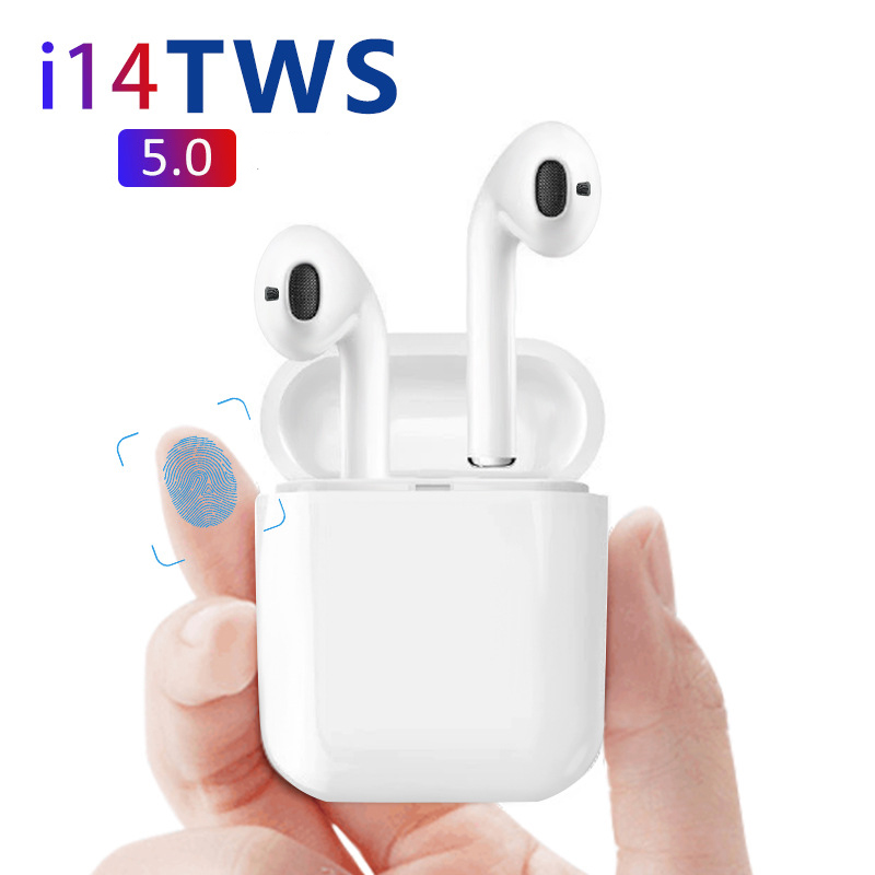 2019 New i14 Mini Wireless Bluetooth 5.0 3D Super Bass Ear Phone PK <font><b>i</b></font> <font><b>14</b></font> i10 i11 XY i16 i12 i17 i18 i13 i15 <font><b>TWS</b></font> image