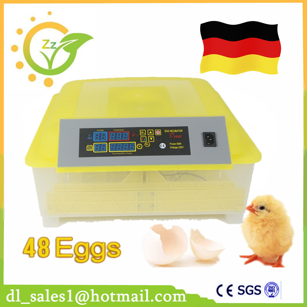 Hot Sale Mini Industrial Brooder Hatchery Machine Fully Automatic Egg Incubator For Hatching 48 Chicken Duck Poultry Eggs ce certificate poultry hatchery machines automatic egg turning 220v hatching incubators for sale