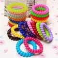 5 pcs moda bandas telefone cabelo do fio elástico de Silicone goma rezinochki primavera scrunchy para mulheres crianças meninas headband