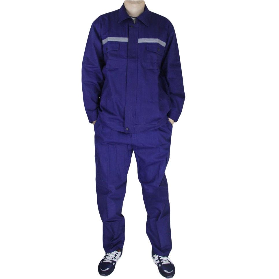 Men Work Clothes Sets Long Sleeve Welding Suits Repair Man Mechanic Multi-pocket Labor Tooling Uniforms Jacket+Pants Plus Size slimming lapel vogue pocket edging design long sleeve men s corduroy blazer