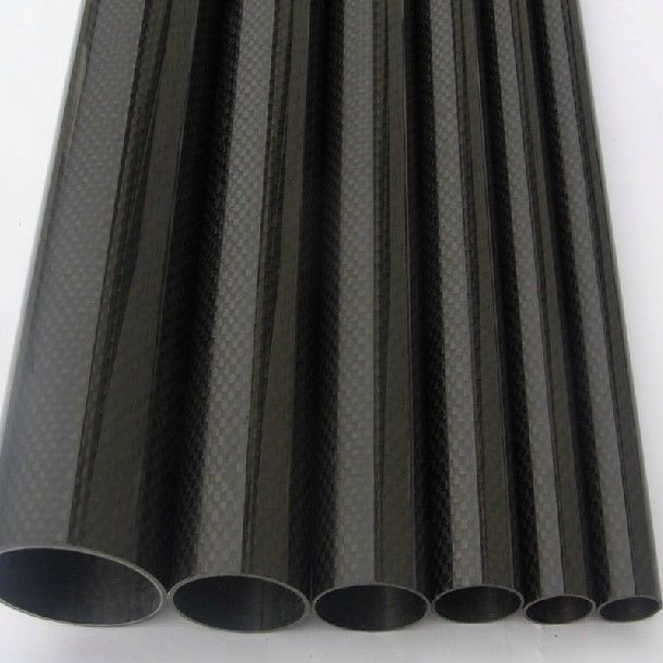 2pcs Roll Wrapped Carbon Fiber Tube 3K Glossy surface Dia 10mm 12mm 14mm 16mm 18mm 22mm 24mm 26mm 28mm 30mm 32mm Length 500mm