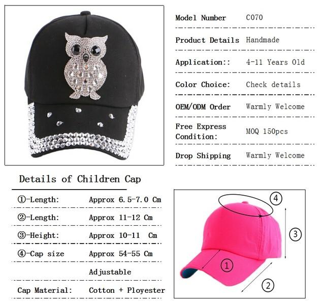 Online Shop wholesale new fashion children baby baseball cap lovely ... a0d0f4761cb2