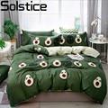 Solstice Cotton Pastoral Flower Cartoon Style Fashion Bedding Bed Linen Bed Sheet Duvet Cover Pillowcase 4pcs Bedding Sets/Queen|4pcs bedding set|bedding fashionfashion bedding -