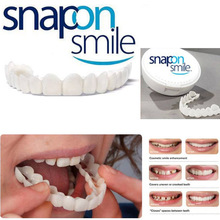 2018 new Ortodoncia Cosmetic Dentistry Snap On Smile Comfort Fit Flex Teeth One Size Fits Most Comfortable Denture Care