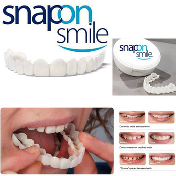 2018 new Ortodoncia Cosmetic Dentistry Snap On Smile Comfort Fit Flex Cosmetic Teeth One Size Fits Most Comfortable Denture Care women s fleece helmet hat one size fits most