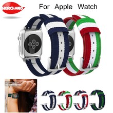 цена на Hot Strap For Apple Watch Series 3 Band Fine Woven Nylon Adjustable Replacement Straps For Watch 38mm 42mm series2 1 Wrist bands