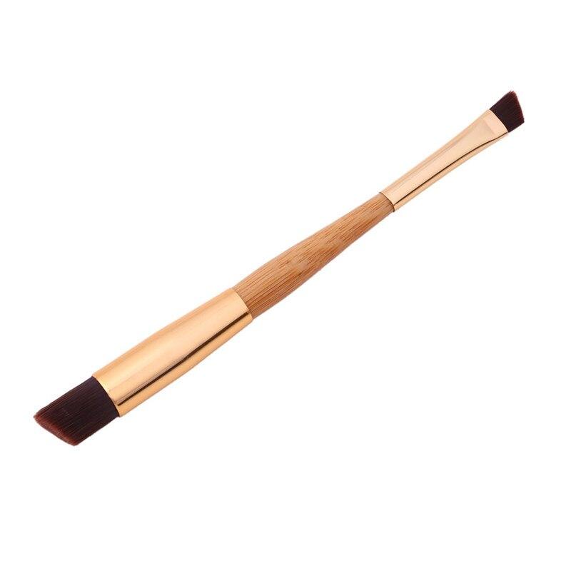 Vendas Delineador Sobrancelha Pincel de Maquiagem Escova De Bambu Oblíqua Dupla Cabeça Pro Eye Liner Eye Brow Pincel Maquiagem Cosméticos Ferramentas de Beleza