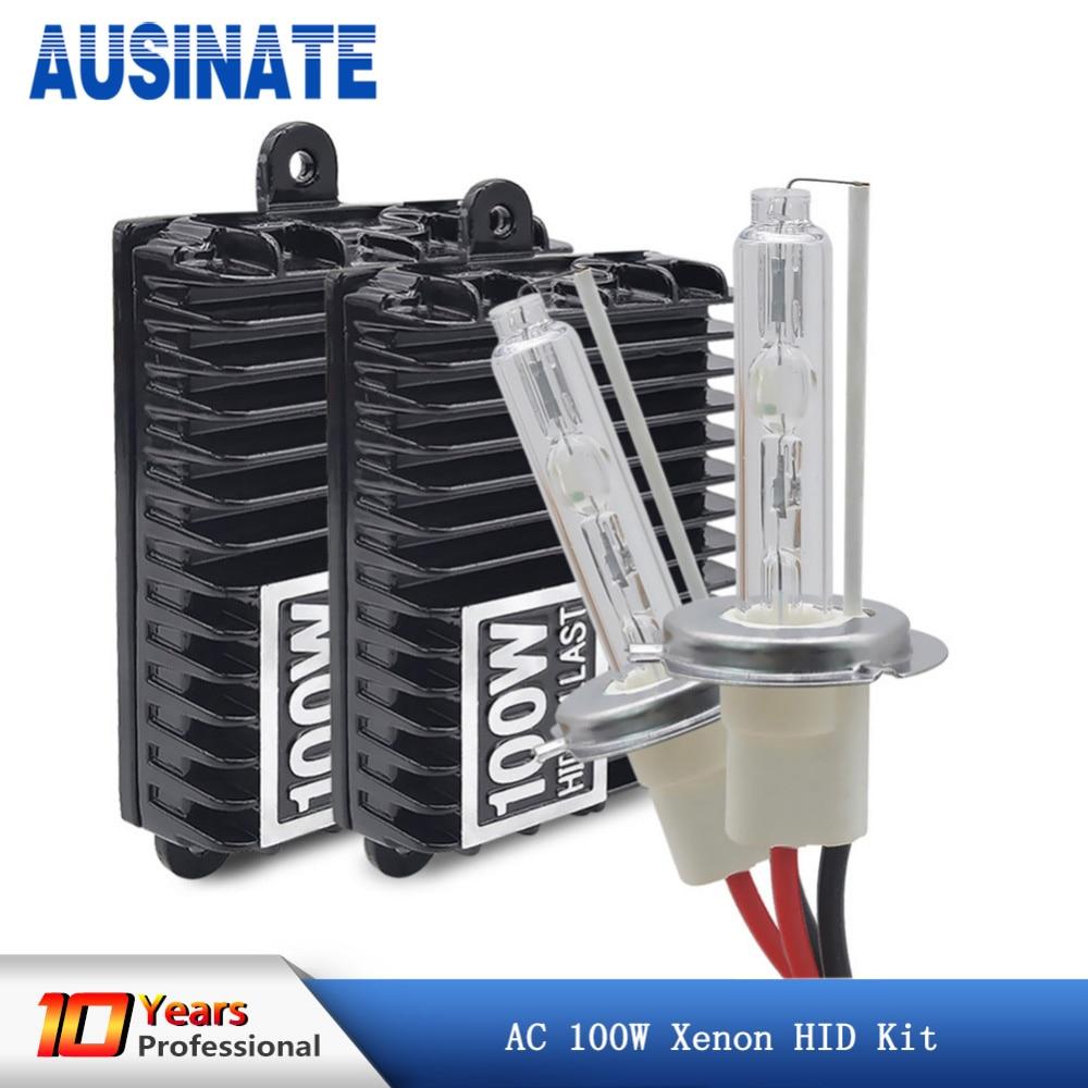 Xenon H7 H4 H1 H11 100W Lampadine per fari per auto H8 H9 H10 9005 HB3 9006 HB4 Kit xenon nascosto x 4300k 5000k 6000k Lampadine per auto