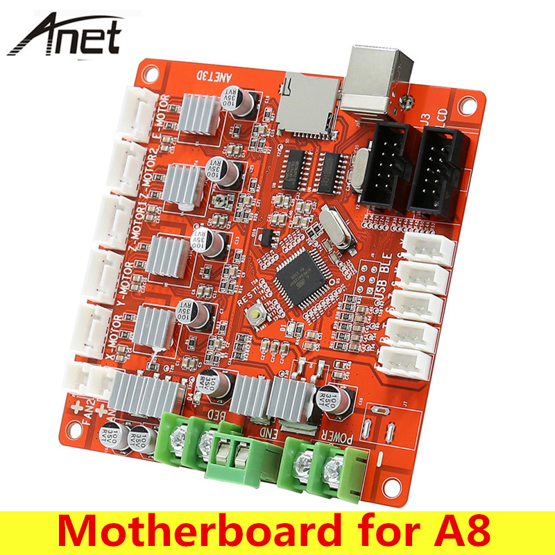 Anet V1.0 3D Printer Controller Board Motherboard Ramps1.4 Update Version for A8 2pcs anet v1 5 motherboard control board 3d printer parts for anet a8