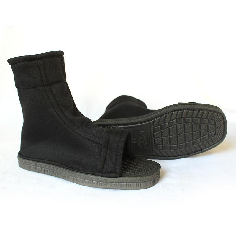 Cosplay Shoes Top Naruto Konoha Ninja Village Black Blue Sandals Boots Costumes  Naruto